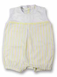 romper cotton colored stripes. Colour yellow, size 0-1 month