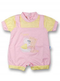 romper baby bear cotton painter. Colour pink, size 1-3 months