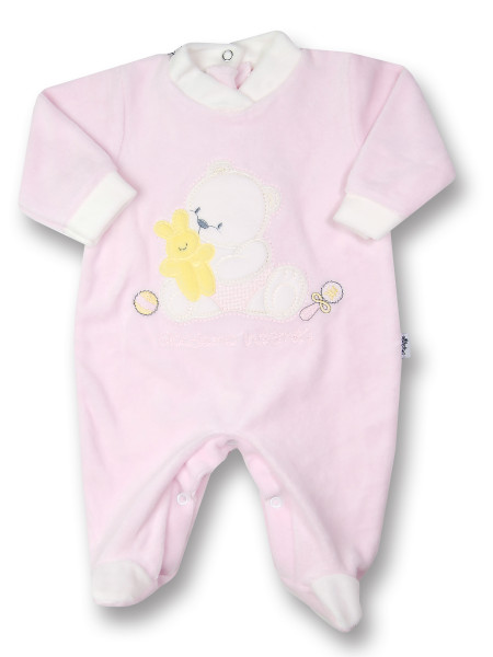 baby footie bear and chenille bunny rabbit. Colour pink, size 00 Pink Size 00