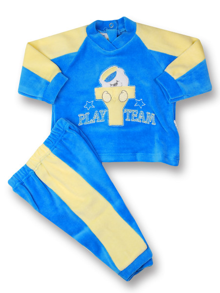 baby outfit baby outfit play team. Colour royal blue, size 6-9 months Royal blue Size 6-9 months