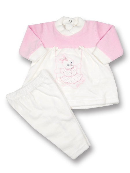 baby outfit chenille dress bunny swing bunny. Colour creamy white, size 0-3 months Creamy white Size 0-3 months