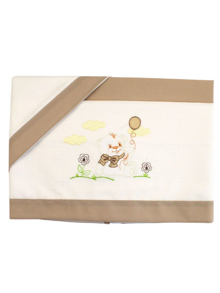 coordinated baby bear cradle on the lawn and balloon. Colour turtledove, one size