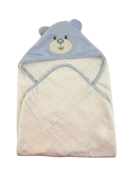 Baby triangle bathrobe Baby bear aby. Colour light blue, one size Light blue One size