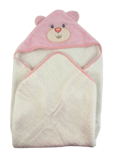 Baby triangle bathrobe Baby bear aby. Colour pink, one size Pink One size