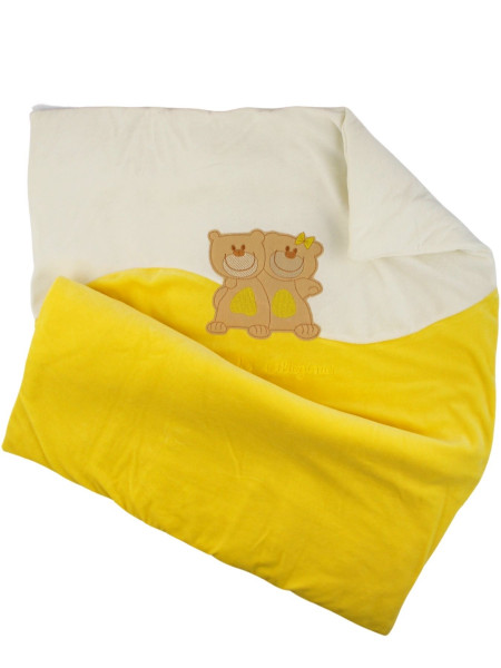 baby cover for chenille cradle, little friends. Colour yellow, one size Yellow One size