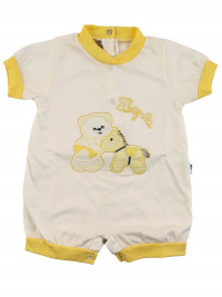 Romper hopla creamy white pony. Colour yellow, size 1-3 months
