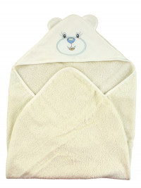 Baby triangle bathrobe Baby bear aby. Colour creamy white, one size