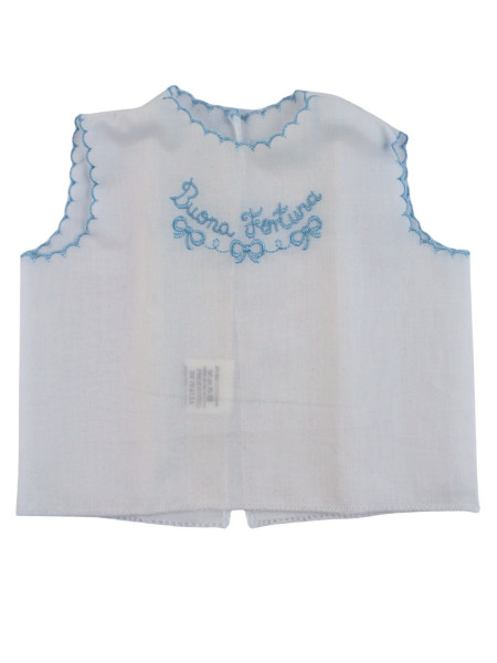 newborn baby blouse good luck in cotton. Blouse Lucky. Colour light blue, one size Light blue One size