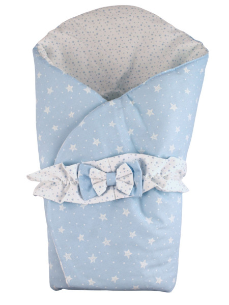 double face cotton padded sleeping bag Petali di Stelle. Colour light blue, one size Light blue One size