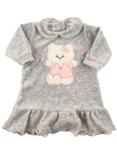 chenille baby dress with flounce. Hello Kitty. Colour grey, size 0-3 months Grey Size 0-3 months