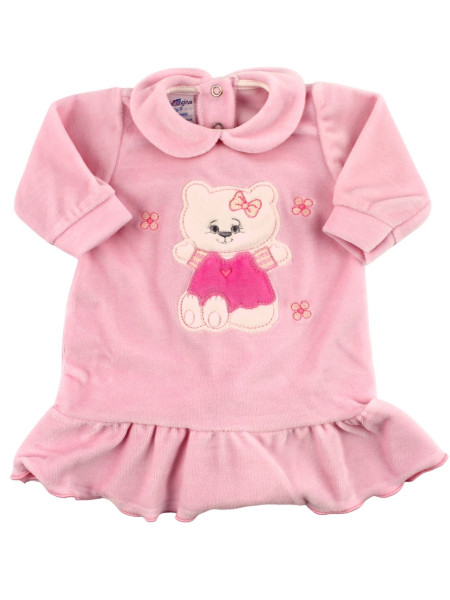 chenille baby dress with flounce. Hello Kitty. Colour pink, size 0-3 months Pink Size 0-3 months