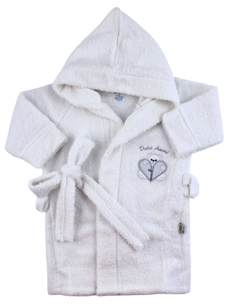 Newborn baby terry cotton bathrobe, Zip bathrobe, Made in Italy. Colour white, size 9-12 months White Size 9-12 months