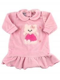 chenille baby dress with flounce. Hello Kitty. Colour pink, size 0-3 months