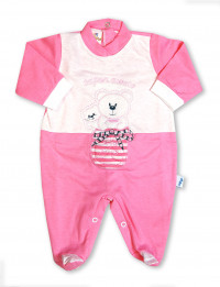 super friendly cotton baby footie in the shoe. Colour coral pink, size 3-6 months