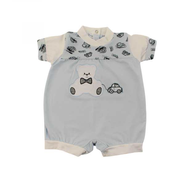 Romper with little girl hearts for the summer season. Colour light blue, size 6-9 months Light blue Size 6-9 months