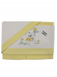 coordinated cot baby bear on the lawn. Colour yellow, one size