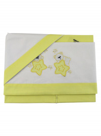 coordinated cot seven stars 3 pieces. Colour yellow, one size